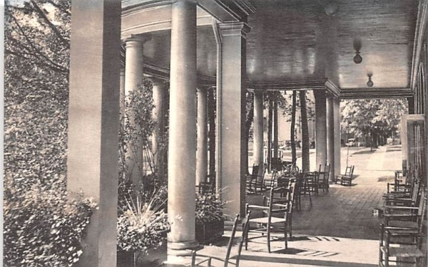 Portico in Summer Canandaigua, New York Postcard