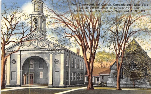 First Congregational Church Canandaigua, New York Postcard
