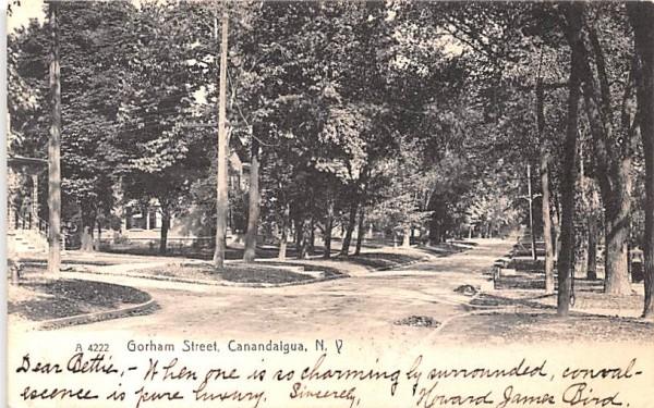 Gorham Street Canandaigua, New York Postcard