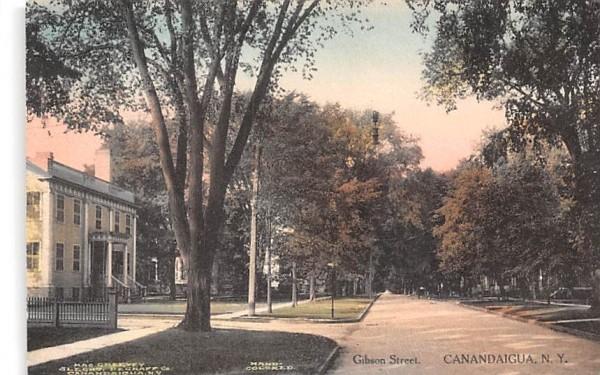 Gibson Street Canandaigua, New York Postcard
