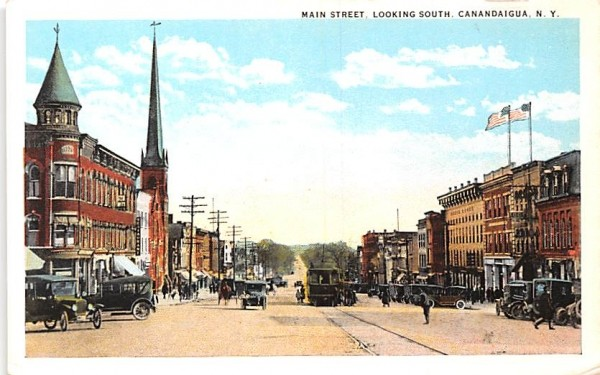 Main  Canandaigua, New York Postcard