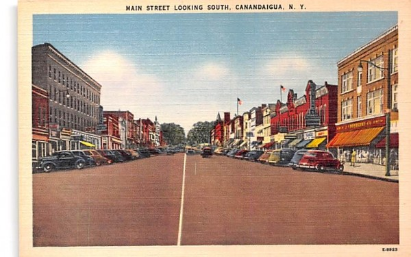 Main Street Canandaigua, New York Postcard