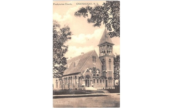 Presbyterian Church Chateaugay, New York Postcard