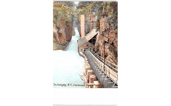 Chateaugay Chasm Power Co New York Postcard