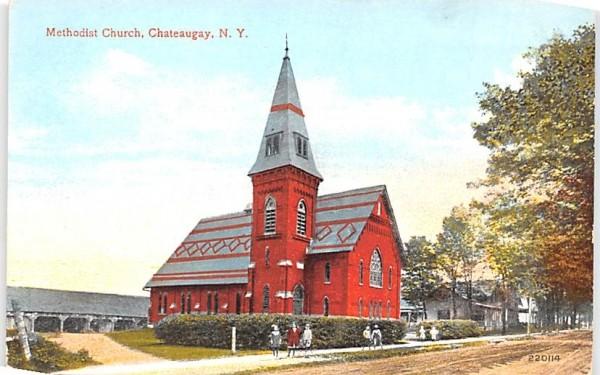 Methodist Church Chateaugay, New York Postcard