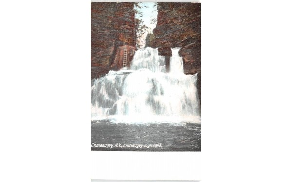 Chateaugay High Falls New York Postcard