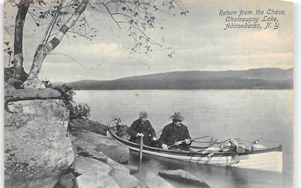 Return from the Chase Chateaugay, New York Postcard