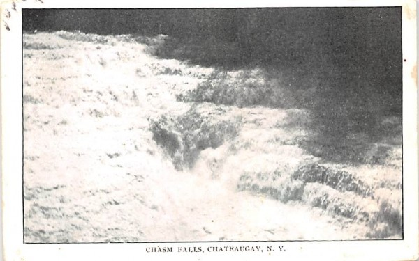 Chasm Falls Chateaugay, New York Postcard