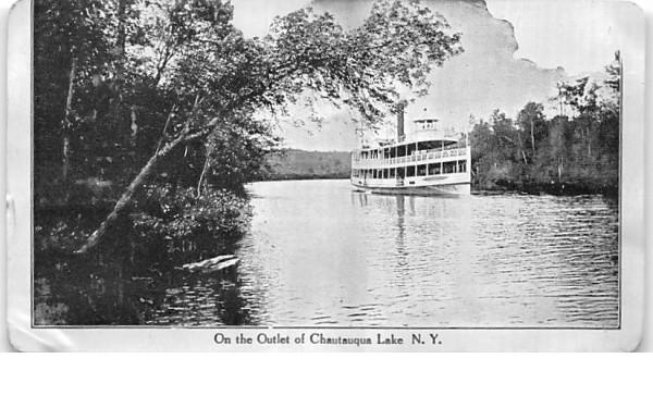 On the Outlet Chautauqua, New York Postcard