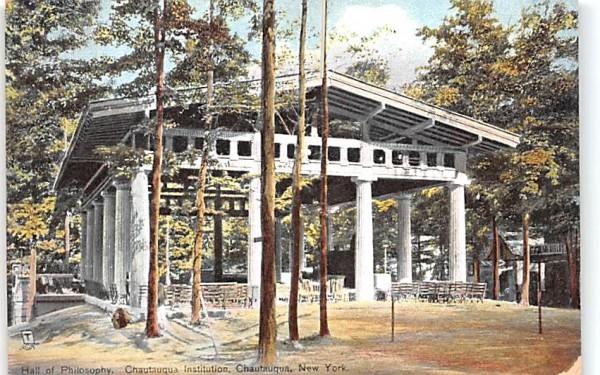 Hall of Philosophy Chautauqua, New York Postcard