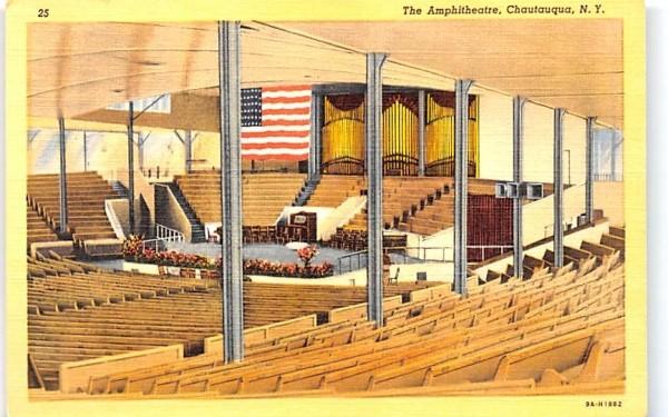 Amphitheatre Chautauqua, New York Postcard
