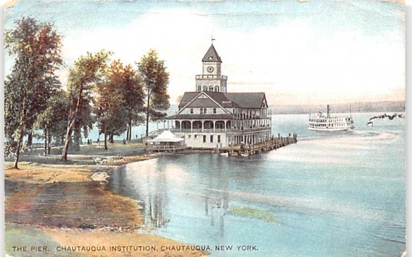 The Pier Chautauqua, New York Postcard
