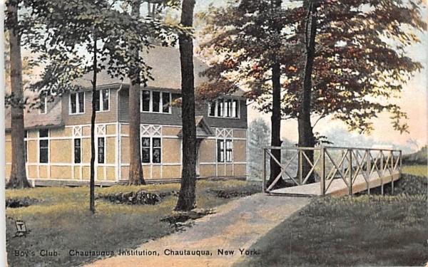 Boy's Club Chautauqua, New York Postcard
