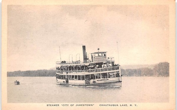 Steamer City of Jamestown Chautauqua, New York Postcard
