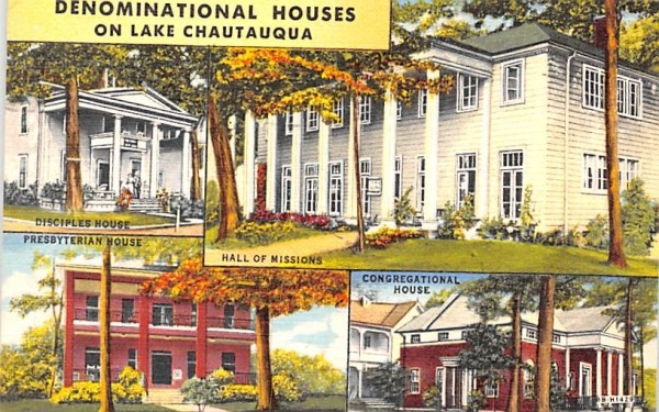 Denominational Houses Chautauqua, New York Postcard