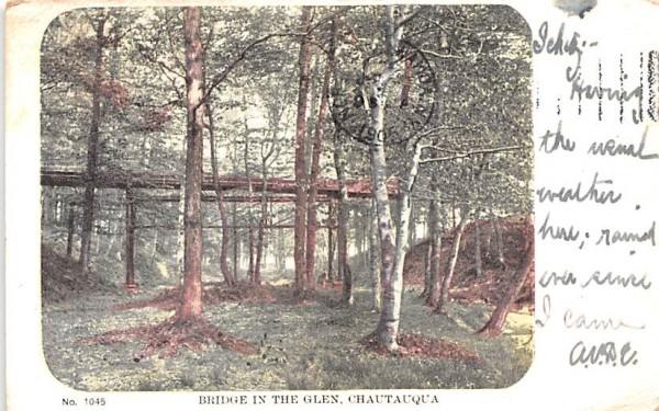 Bridge in the Glen Chautauqua, New York Postcard
