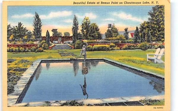 Estate at Bemus Point Chautauqua, New York Postcard