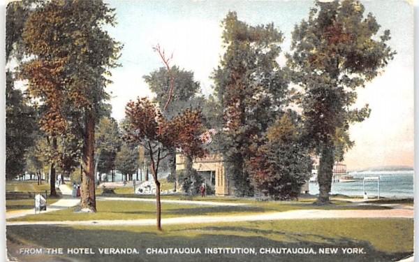 From Hotel Veranda Chautauqua, New York Postcard