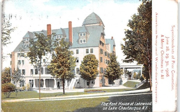 Kent House & Lakewood Chautauqua, New York Postcard