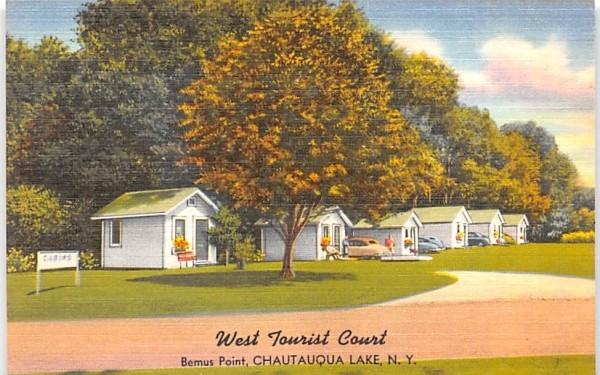 West Tourist Court Chautauqua, New York Postcard