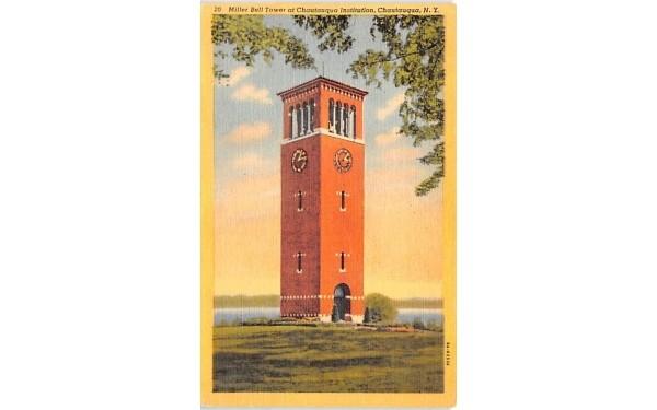 Miller Bell Tower Chautauqua, New York Postcard