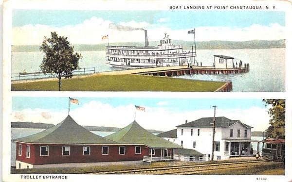 Boat Landing Chautauqua, New York Postcard