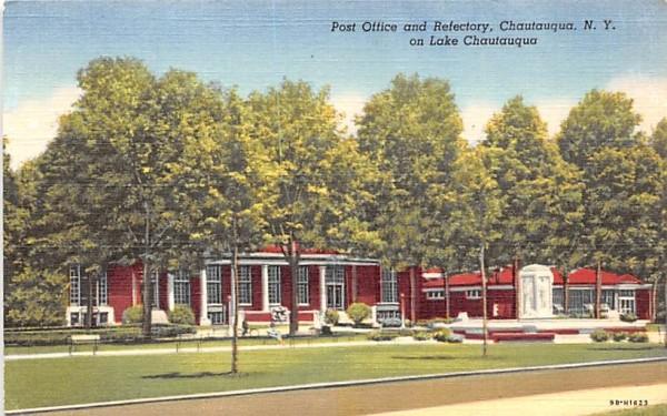 Post Office & Refectory Chautauqua, New York Postcard