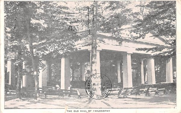 The Old Hall of Philosophy Chautauqua, New York Postcard