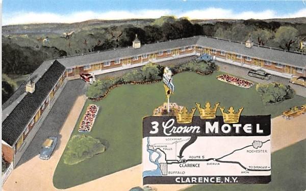 Three Crown Motel Clarence, New York Postcard