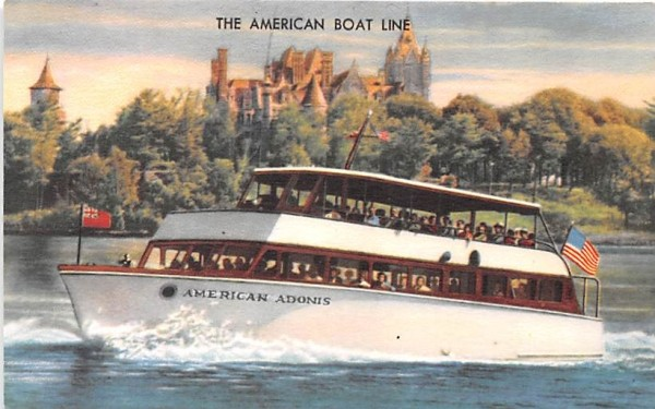 The American Boat Line Clayton, New York Postcard