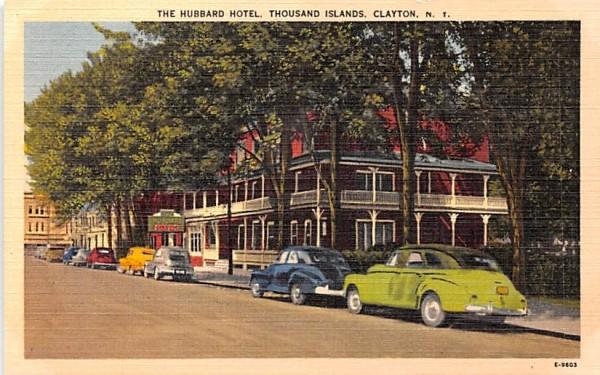 Hubbard Hotel Clayton, New York Postcard