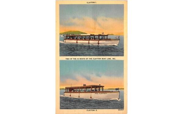 Clayton Boat Line Inc New York Postcard