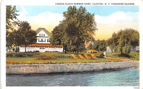 Crouse Klock Summer Home Clayton, New York Postcard