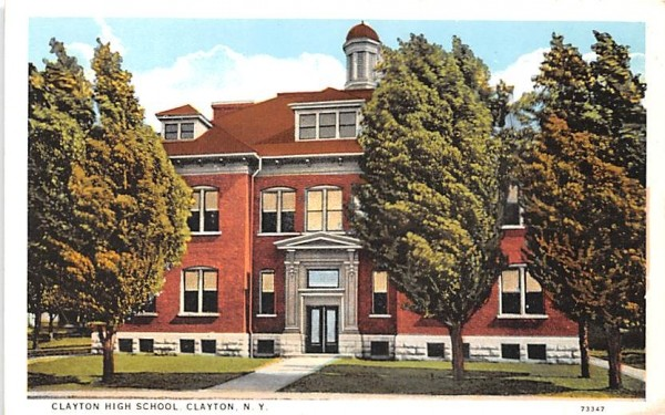 Clayton High School New York Postcard