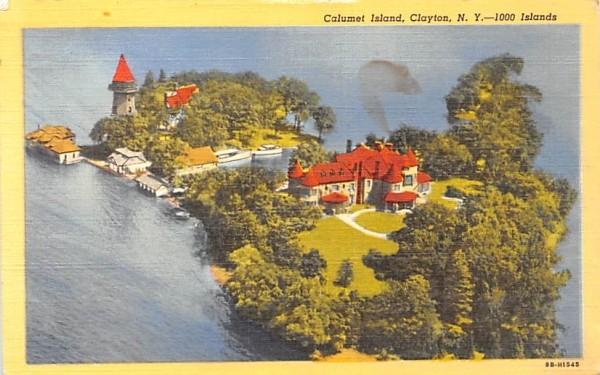Calumet Island Clayton, New York Postcard