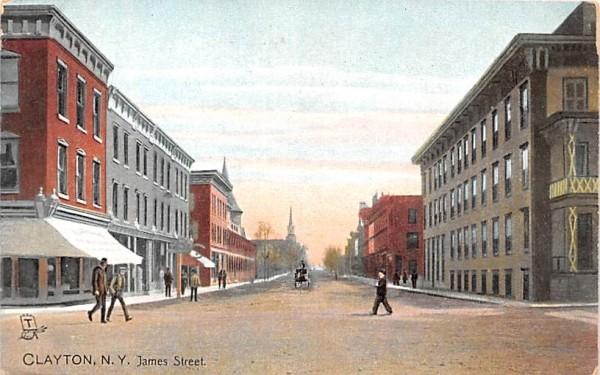 James Street Clayton, New York Postcard
