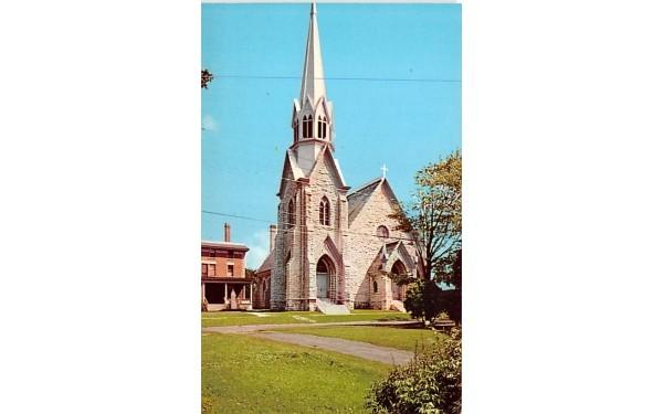 St Mary's Catholic Church Clayton, New York Postcard
