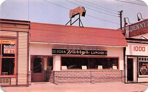 Harry's Snack Bar Clayton, New York Postcard
