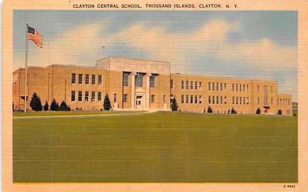 Clayton Central School New York Postcard