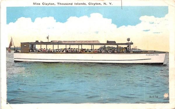 Miss Clayton Boat New York Postcard