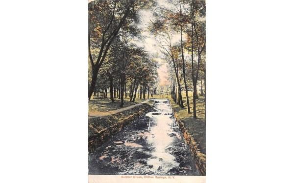 Sulphur Brook Clifton Springs, New York Postcard