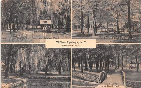 Sanitarium Park Clifton Springs, New York Postcard