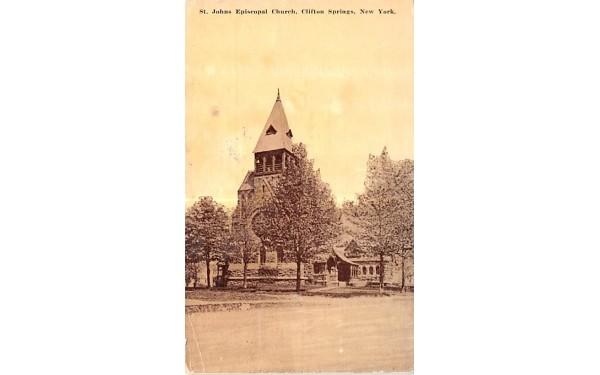 St Johns Episcopal Church Clifton Springs, New York Postcard