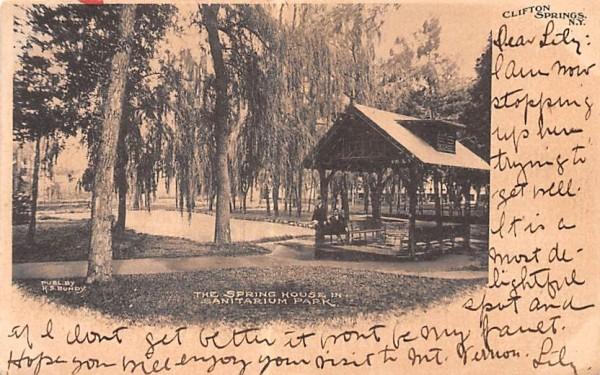 Spring House Clifton Springs, New York Postcard