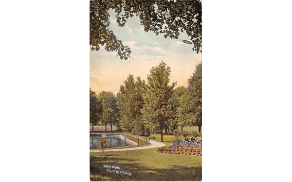 Back Park Clifton Springs, New York Postcard