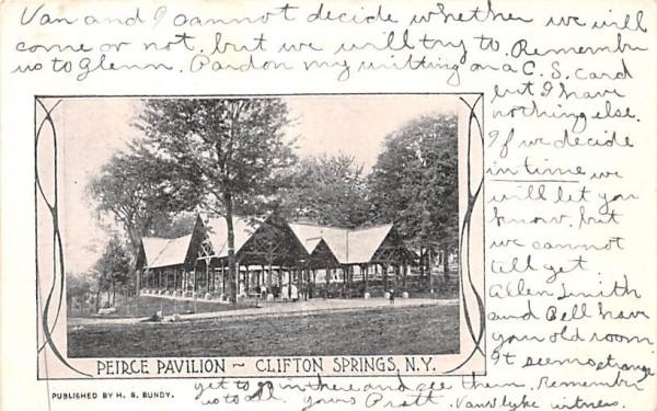 Peirce Pavilion Clifton Springs, New York Postcard