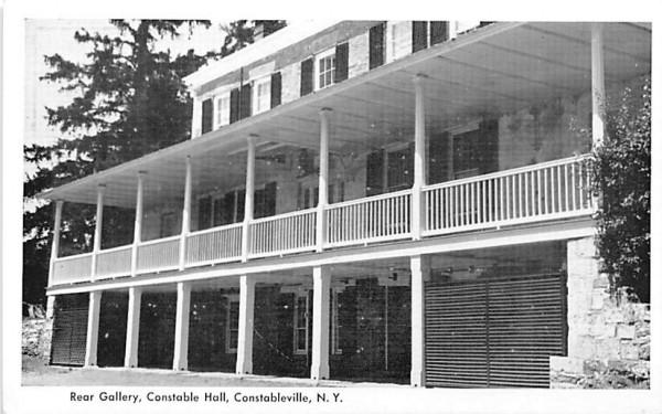 Rear Gallery Constableville, New York Postcard
