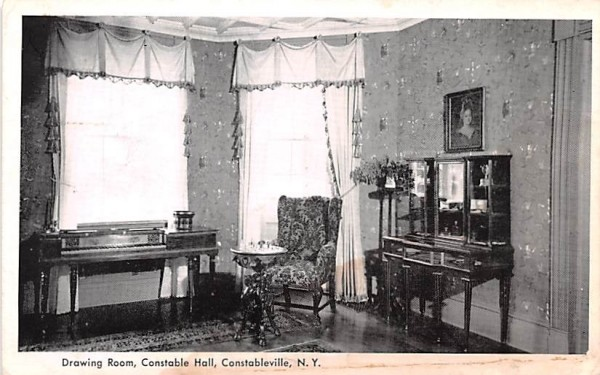 Drawing Room Constableville, New York Postcard