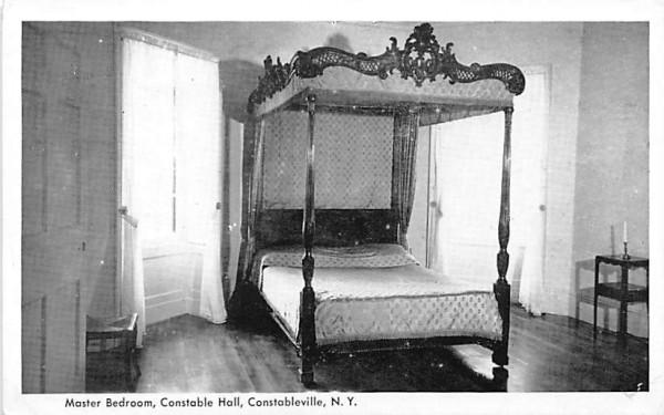 Master Bedroom Constableville, New York Postcard