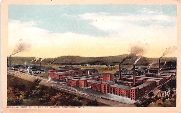 Wickwire Works Cortland, New York Postcard